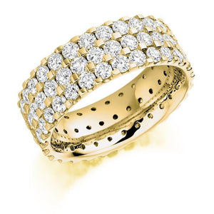 18K Yellow Gold 3.10 CTW Diamond Full Eternity Ring - Pobjoy Diamonds