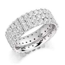 Load image into Gallery viewer, 950 Platinum Three Row 3.10 CTW Diamond Full Eternity Ring From Pobjoy