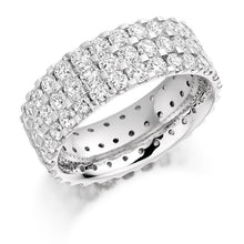 Load image into Gallery viewer, 950 Platinum 3.10 CTW Diamond Full Eternity Ring - Pobjoy Diamonds