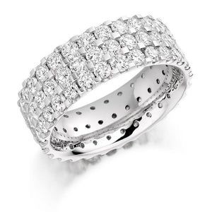 950 Platinum 3.10 CTW Diamond Full Eternity Ring - Pobjoy Diamonds
