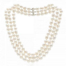 Load image into Gallery viewer, Triple Strand Freshwater Cultured Pearl Necklace & Silver Clasp - Pobjoy Diamonds