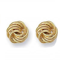 Load image into Gallery viewer, 9K Yellow Large Gold Stud Earrings
