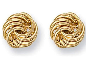 9K Yellow Large Gold Stud Earrings