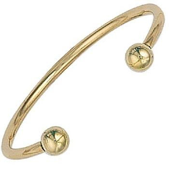 9K Solid Gold Baby Torque Bangle