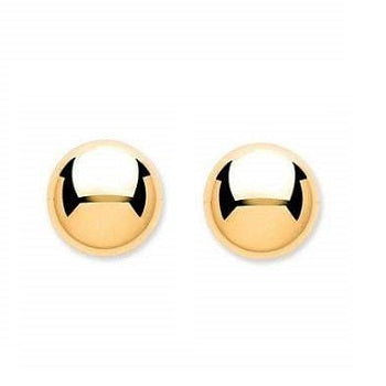 9K Gold Medium Ladies Ball Stud Earrings - Pobjoy Diamonds