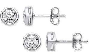 Pobjoy 9K White Gold & 0.25 CTW Diamond Stud Earrings, Surrey