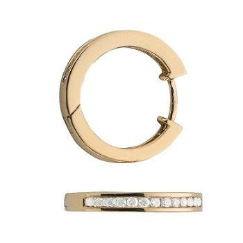 9K Yellow Gold % 0.50 CTW Hoop Earrings From Pobjoy Diamonds