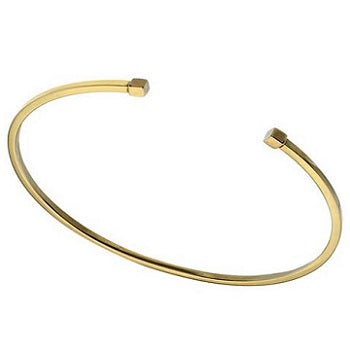 9K Yellow Gold Square Edge Torque Ladies Bangle