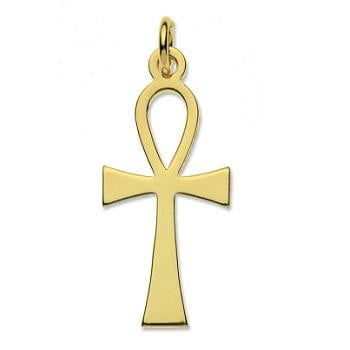 9K Yellow Gold Ankh Pendant & Neck Chain - Pobjoy Diamonds