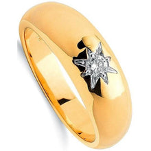 Load image into Gallery viewer, 9K Yellow Gold Gents Diamond Ring H-I/Si - Pobjoy Diamonds