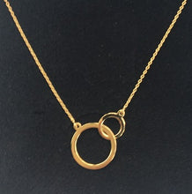 Load image into Gallery viewer, 9K Yellow Gold Twin Flat Hoops & Rolo Neck Chain