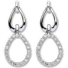 Load image into Gallery viewer, 9K White Gold & Diamond 0.25 CTW Drop Earrings