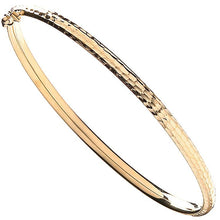 Load image into Gallery viewer, 9K Yellow Gold Ladies Hinged Bangle - Pobjoy Diamonds