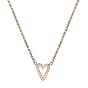 9K Rose Gold Heart Pendant Necklace