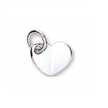 Pobjoy 9K White Gold Heart Pendant & Neck Chain