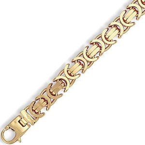 9K Yellow Gold Heavyweight Byzantine Bracelet - Pobjoy Diamonds
