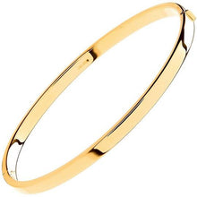 Load image into Gallery viewer, 9K Yellow Gold Hinged Square Edged Ladies Bangle - Pobjoy Diamonds