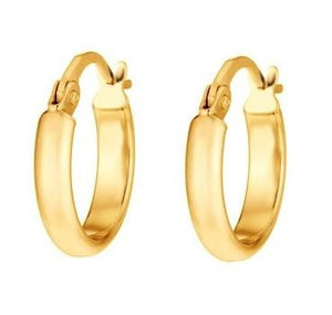 9K Yellow Gold Plain Creole Earrings From Pobjoy