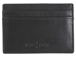 Black Leather Card Holder - Pobjoy Diamonds