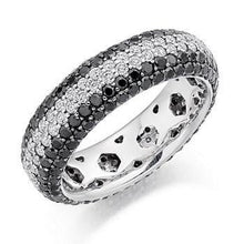 Load image into Gallery viewer, Pobjoy Black & White 3.15 CTW Diamond Full Eternity Ring F/VS