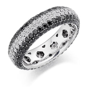 Pobjoy Black & White 3.15 CTW Diamond Full Eternity Ring F/VS