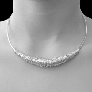 Handmade Silver Wire Wrap Choker - Pobjoy Diamonds