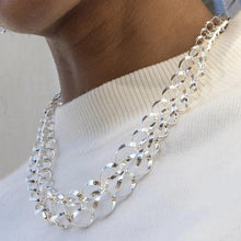 Load image into Gallery viewer, Handmade Sterling Silver Circle Necklace - Pobjoy Diamonds