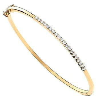 9K Yellow Gold Ladies Diamond Bangle 0.50 CTW - Pobjoy Diamonds
