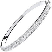 Load image into Gallery viewer, 18K White Gold Ladies 3.15 CTW Diamond Pave Bangle - Pobjoy Diamonds