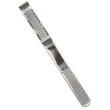 Silver Gents Barley Design Tie Slide - Pobjoy Diamonds