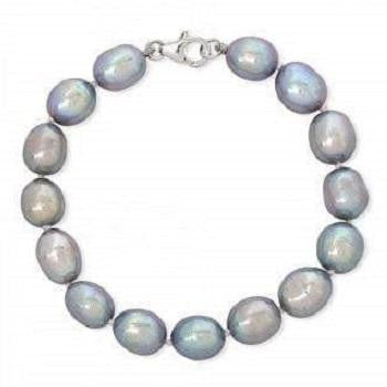 Freshwater Blue & Grey Baroque Pearl Bracelet - Pobjoy Diamonds