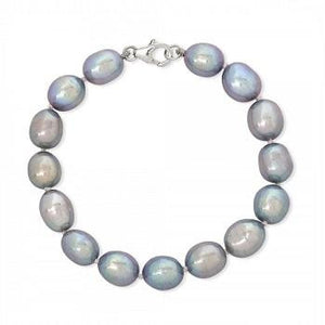 Freshwater Silver Grey Oval Baroque Bracelet - [product_type] - Pobjoy Diamonds - Pobjoy Diamonds