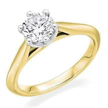 Load image into Gallery viewer, 18K Gold 0.50 Carat Round Brilliant Cut Solitaire Lab Grown Diamond Ring F/VS1 - Pobjoy Diamonds