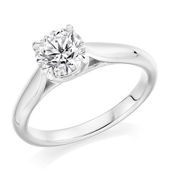 Bespoke Round Brilliant Cut Solitaire Diamond Engagement Ring 0.80-1.30 Carat. Prices From