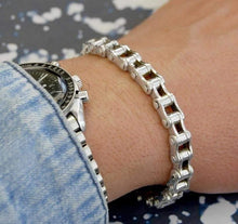 Load image into Gallery viewer, Mens Chunky Sterling Silver Bike Chain Bracelet - Pobjoy Diamonds