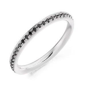 950 Platinum 0.30 Carat Black Diamond Full Eternity Ring
