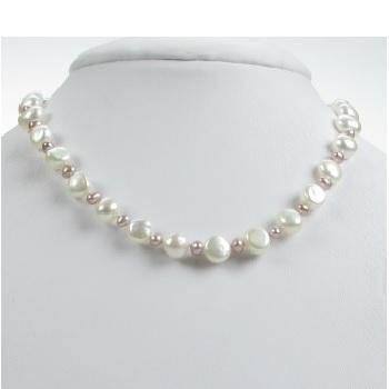 Child's Pink Pearl Necklace
