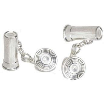Sterling Silver Gents Clay Pigeon Design Chain Linked Cufflinks From Pobjoy