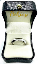 Load image into Gallery viewer, D-Shape Wedding Band In 18K Gold Or Platinum. Select Width 2mm-7mm