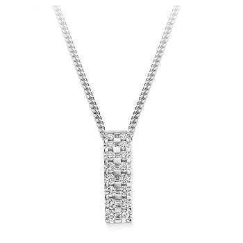 18K White Gold 0.35 CTW Diamond Circle Pendant