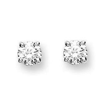 9K White Gold & 0.15 CTW  Diamond Stud Earrings