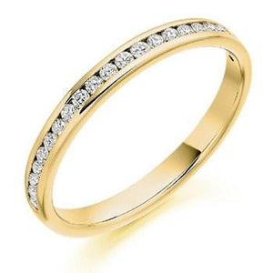 18K Gold Half Eternity 0.25 CTW. Yellow, White or Rose Gold. - Pobjoy Diamonds