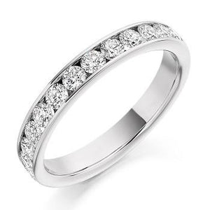 Channel Set Diamond Half Eternity 0.75 Carat - Pobjoy Diamonds