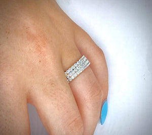18K Yellow Gold 3.10 CTW Diamond Full Eternity Ring