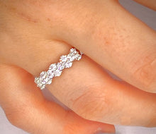 Load image into Gallery viewer, 950 Platinum 1.50 CTW Round Cut Diamond Full Eternity - SAMPLE RING