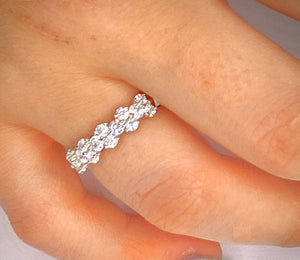 950 Platinum 1.50 CTW Round Cut Diamond Full Eternity - SAMPLE RING
