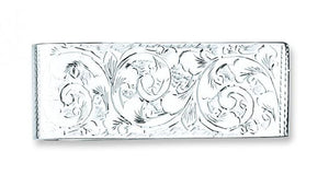 Sterling Silver Engraved Money Clip - Pobjoy Diamonds
