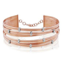 Load image into Gallery viewer, 18K Rose Gold Scattered Diamond Bangle 0.20 CTW - Pobjoy Diamonds