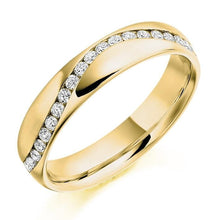 Load image into Gallery viewer, 18K Yellow Gold Full Eternity Offset Ring 0.60 CTW - Pobjoy Diamonds