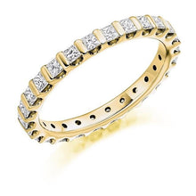 Load image into Gallery viewer, 18K Yellow Gold Full Eternity Ring Princess Cut 1.00 CTW - Pobjoy Diamonds